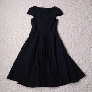 belle poque Dresses - New Belle Poque M Navy Blue Fit Flare Dress Pin Up
